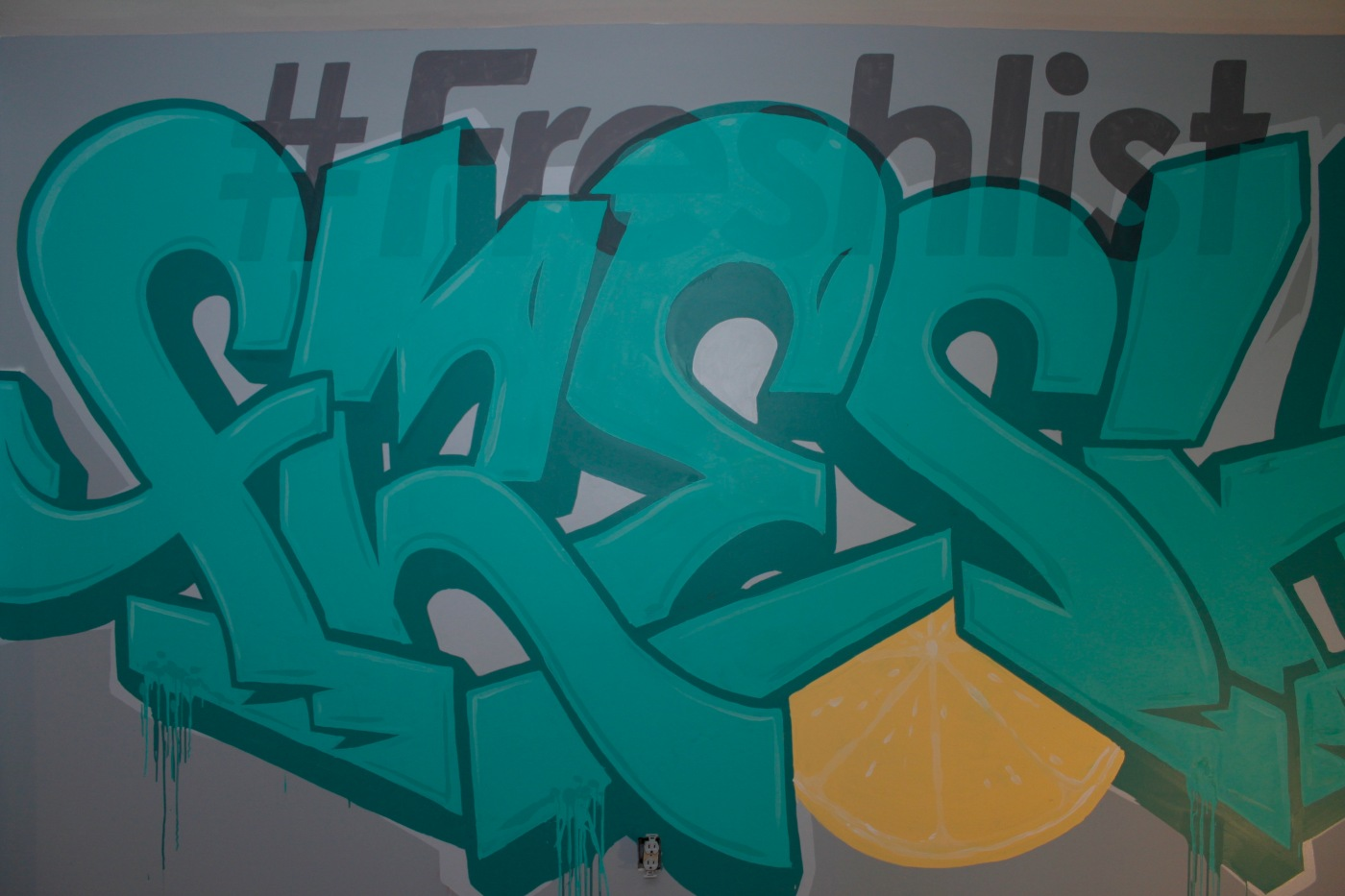 Freshlist graffiti logo